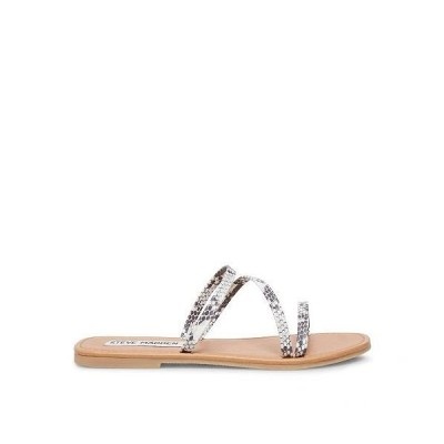 Steve Madden スティーブマデン レディース 女性用 シューズ 靴 サンダル Invest Flat Sandal - Natural Snake