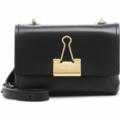 オフホワイト Off-White レディース ショルダーバッグ バッグ soft binder clip small shoulder bag Black
