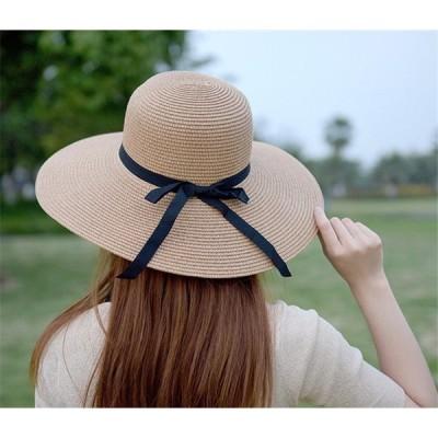送料無料 麦わら帽子 ストローハット 選べる 折りたたみ 可 紫外線 防止 UVカット レディース