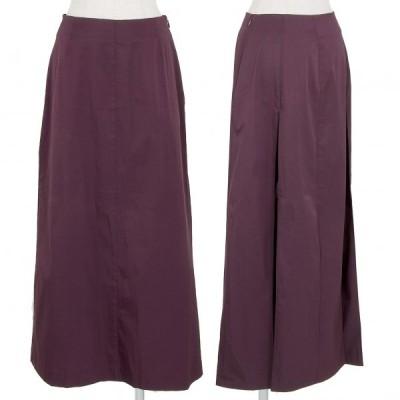 ジジリgigli ストレッチバックプリーツAラインスカート 紫38(M) 【レディース】