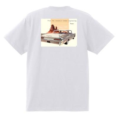 アドバタイジング ポンティアック 438 白 Tシャツ 黒地へ変更可能 1959 ボンネビル スターチーフ カタリナ ホットロッド ローライダー