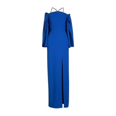 ローラン ムレ ROLAND MOURET ロングワンピース&ドレス ブルー 6 レーヨン 50% / アセテート 47% / ポリウレタン 3%