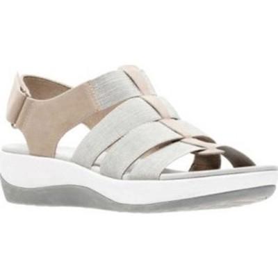 クラークス Clarks レディース サンダル・ミュール シューズ・靴 Arla Shaylie Slingback Sand/White Heathered Elastic