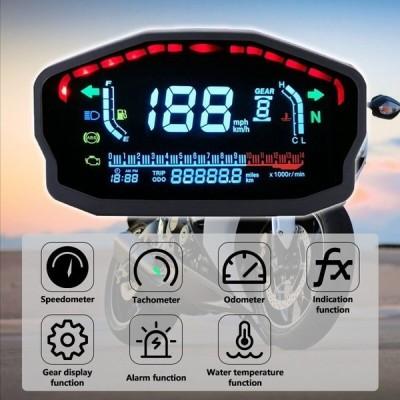 オートバイ LED 液晶 スピードメーター デジタル バックライト 防水 高品質 おすすめ 走行距離計 タコメータ
