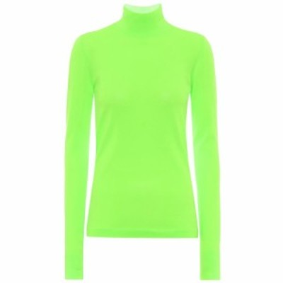 レ レヴェリズ Les Reveries レディース ニット・セーター トップス High-neck jersey top Neon Green