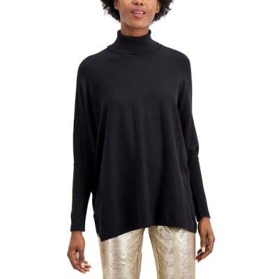 アルファニ ニット&セーター アウター レディース Drop-Shoulder Turtleneck Sweater Deep Black