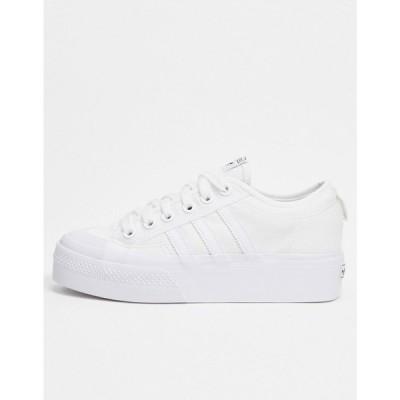 アディダス adidas Originals レディース スニーカー シューズ・靴 Nizza platform trainers in white ホワイト