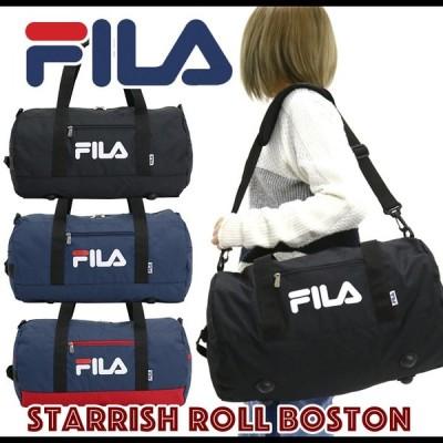 フィラ FILA ボストンバッグ ドラムボストン スターリッシュロールボストン メンズ レディース 男女兼用 黒 ブラック