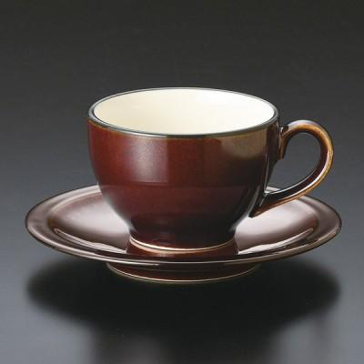 陶雅 BlackRust(チャコール) 丸コーヒー碗皿セット