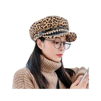 キャスケット レディース 秋 帽子 ヒョウ柄  2020韓国風  キャスケット 冬  キャップ ハット    かわいい