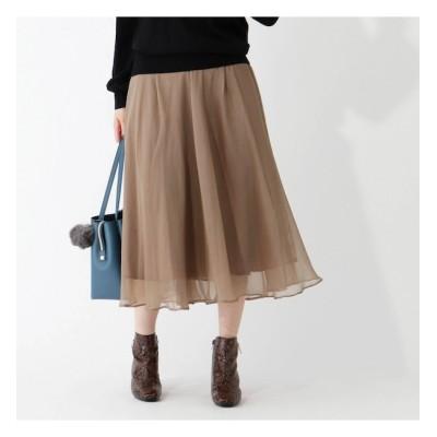 【グローブ/grove】 シアー楊柳重ねスカート
