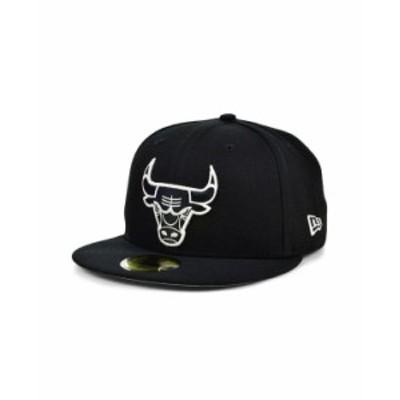 ニューエラ メンズ 帽子 アクセサリー Chicago Bulls Black White 59FIFTY Cap Black