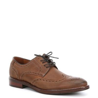ジョンストンアンドマーフィー メンズ ドレスシューズ シューズ Men's Warner Oiled Leather Wing Tip Oxford Tan