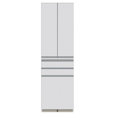 家具 収納 キッチン収納 食器棚 キッチンストッカー 食品ストッカー 家電が使いやすいハイカウンター奥行45cm 食器棚高さ203cm幅60cm/パモウナDQ-S600K 549214