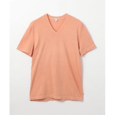 (JAMES PERSE/ジェームス パース)コットン VネックTシャツ MLJ3352/メンズ 33ピンク