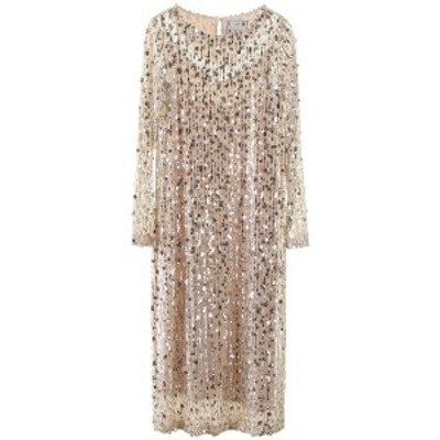IN THE MOOD FOR LOVE/イン ザ モード フォー ラブ ドレス BEIGE SILVER In the mood for love christy midi dress with sequins レディ