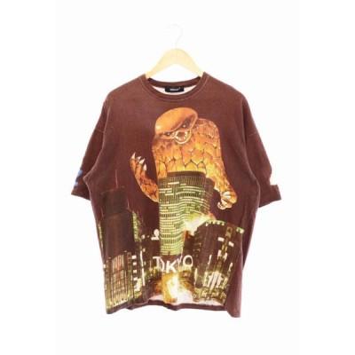 【中古】アンダーカバー UNDERCOVER 19SS ZORUGE ゾルゲ 半袖 Tシャツ プリント 総柄 UCW4816 2 マルチカラー ブランド古着ベクトル 中古 210513 0065 メンズ