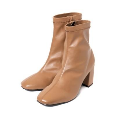 R&E / 【REZOY】スクエアショートブーツ WOMEN シューズ > ブーツ