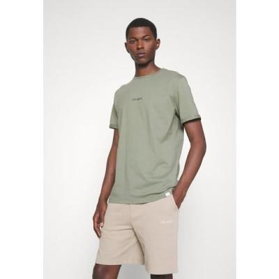 メンズ ファッション LENS - Basic T-shirt - lichen green/black