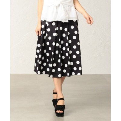 スカート 【はっ水】【ウォッシャブル】ポルカドットプリントスカート