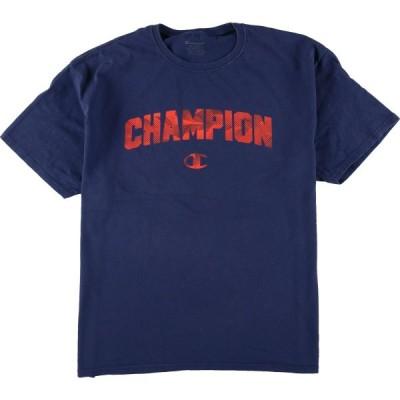 チャンピオン Champion ロゴプリントTシャツ メンズL /eaa069742