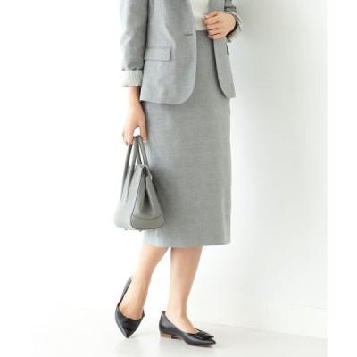 スカート Demi-Luxe BEAMS / ストレッチシャークスキン スカート