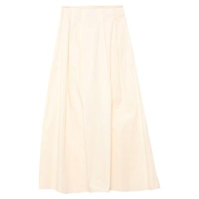 MR MASSIMO REBECCHI ロングスカート ホワイト S コットン 95% / ポリウレタン 5% ロングスカート