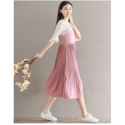 シフォン キャミワンピース パーティ ドレス キャバワンピ レディース 二次会 きれいめ 結婚式 韓国  20代 30代40代 大きい