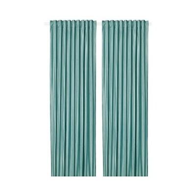 IKEA イケア カーテン 1組 グレーターコイズ 145x250cm m70488101 ELDTORN