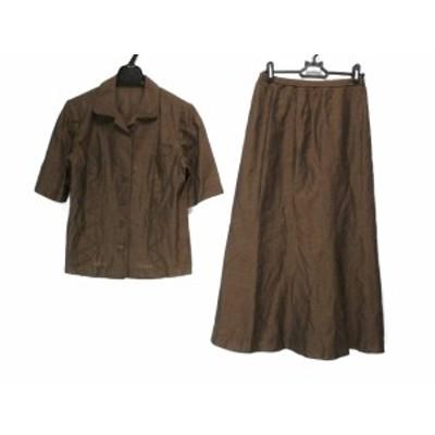 レリアン Leilian スカートスーツ サイズ9 M レディース - ダークブラウン【中古】20200513