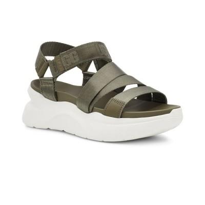 アグ サンダル シューズ レディース Women's LA Shores Wedge Sandals Burnt Olive