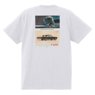 アドバタイジング マーキュリーTシャツ 白 1185 黒地へ変更可 1963 モントレー コメット メテオ フォード レトロ