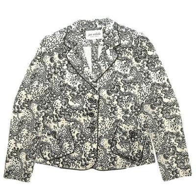 ジュンアシダ jun ashida テーラードジャケット アウター レディース ホワイト×ブラック系 size9 A04005