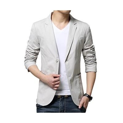 (チーアン) Tiann メンズ ジャケット スーツ 生地 カジュアル コート ビジネス ジャケット テーラードジャケット サマージャケット