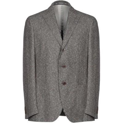 カンタレリ CANTARELLI テーラードジャケット グレー 50 麻 65% / ナイロン 22% / コットン 13% テーラードジャケット