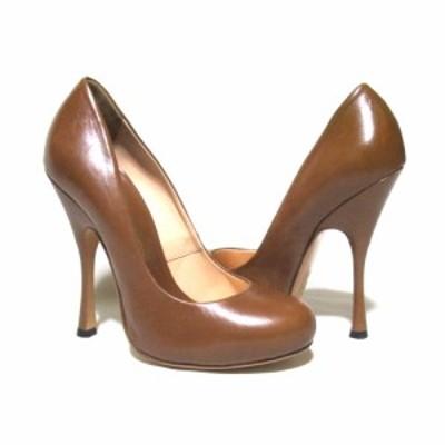 美品 Vivienne Westwood ヴィヴィアンウエストウッド「37」イタリア製 レザーピンヒールシューズ (パンプス 靴  皮 革) 127552 【中古】