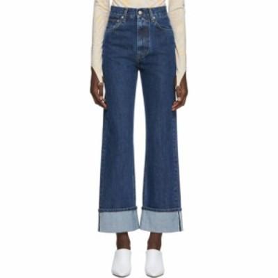 ヘルムート ラング Helmut Lang レディース ジーンズ・デニム ボトムス・パンツ blue denim femme hi straight jeans Dark stone