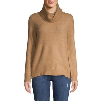 ヴェロモーダ レディース ニット&セーター アウター Cowl-Neck Wool-Blend Sweater Tobacco Brown