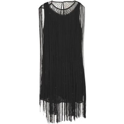HAUTE HIPPIE ミニワンピース&ドレス ブラック 0 シルク 100% ミニワンピース&ドレス