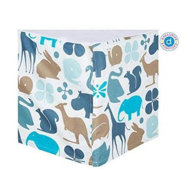 DwellStudio Percale Crib Skirt Gio Aqua by Dwell Studio