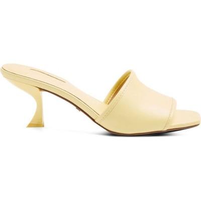 トップショップ Topshop レディース サンダル・ミュール シューズ・靴 Nutmeg Yellow Flare Heel Mules Yellow