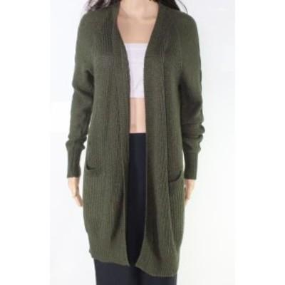 ファッション トップス RDI Womens Green Size Small S Open Front Ribbed Cardigan Sweater
