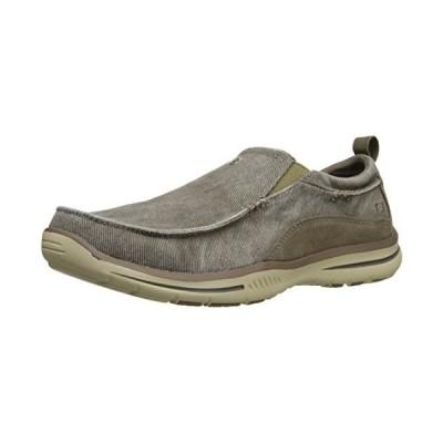 Skechers USA メンズ Elected Drigo スリップ-On Loafer, モグラ, 13 D US(海外取寄せ品)