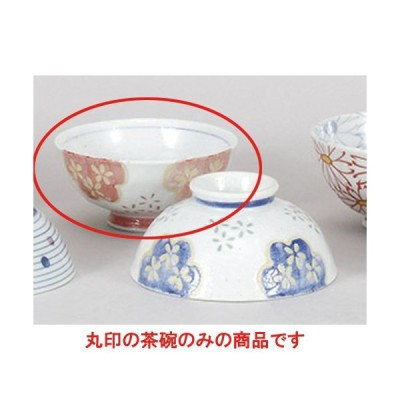 夫婦茶碗 志野花小紋中平 [11.7 x 5.5cm]  料亭 旅館 和食器 飲食店 業務用
