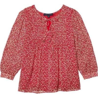 トミー ヒルフィガー Tommy Hilfiger レディース ブラウス・シャツ トップス Pin Tuck - Island Floral Scarlet Multi