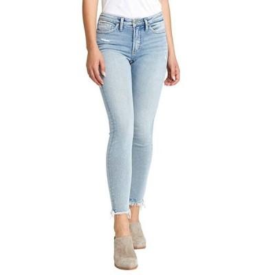 シルバー ジーンズ レディース デニムパンツ ボトムス Most Wanted Frayed Hem Skinny Jeans
