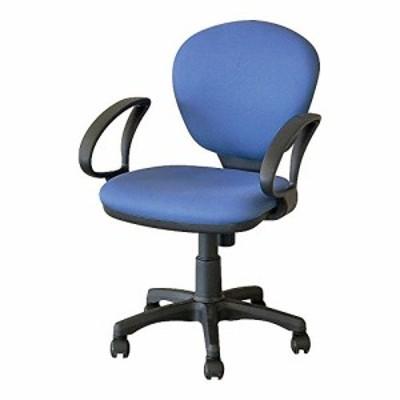【送料無料】ナカバヤシ オフィスチェア デスクチェア 椅子 ブルー CRS-102-B