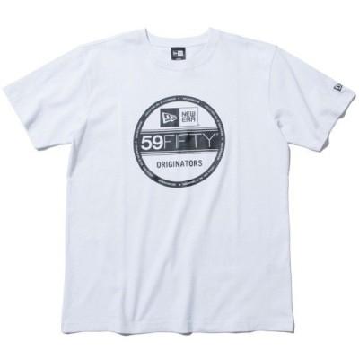 ニューエラ ロゴ NEWERA Cotton Tee Visor Sticker 半袖 Tシャツ ホワイト×ブラック