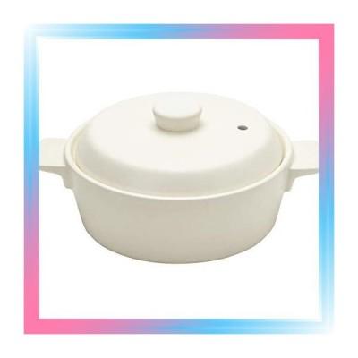 ホワイト/土鍋:Sサイズ 土鍋 コーナー 1人用 ホワイト 直径20×