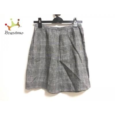 プラージュ Plage スカート サイズ36 S レディース 白×黒×ブラウン 千鳥格子       スペシャル特価 20200427